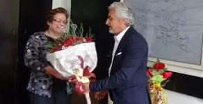 Заместник-областният управител Андриян Петров поздрави библиотекарката Йорданка Вълчева