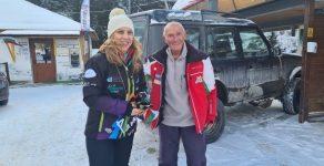 Най-възрастният практикуващ скиор у нас Иван Раев министъра на туризма на Мечи чал